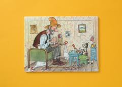 Пазл деревянный «Петсон в гостях у Финдуса»