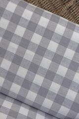 Льняная интерьерная ткань рисунок КЛЕТКА цвет ЛАВАНДА