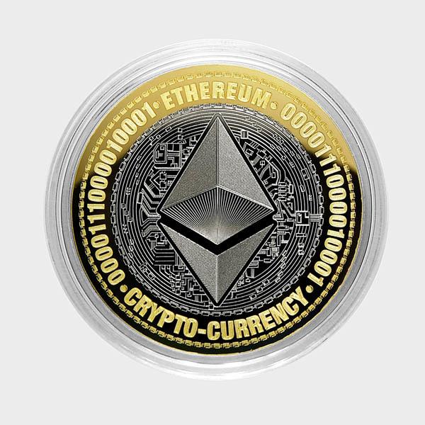 Эфириум. Гравированная монета 10 рублей