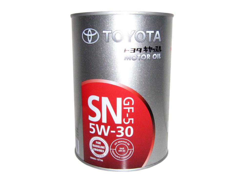 Toyota motor oil 5W30 SN/GF 5 Синтетическое моторное масло