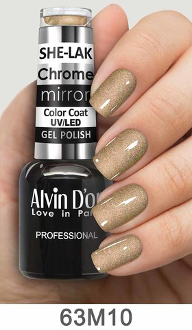 Alvin D`or Лак для ногтей SHE-LAK Chrome mirror  тон 6310 -8мл