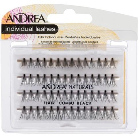 Пучки для наращивания ресниц  без узелковые, комбинированные Andrea,combo