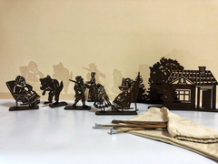 КРАСНАЯ ШАПОЧКА набор фигурок для театра теней