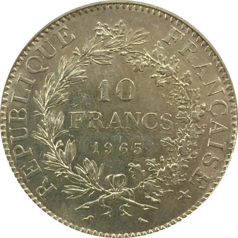 10 франков 1965 год. Франция XF+