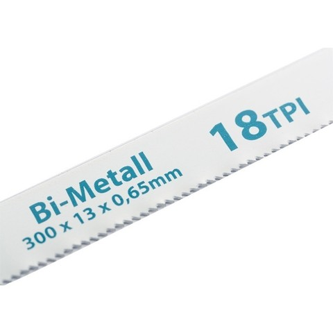 Полотна для ножовки по металлу, 300 мм, 18 TPI, BIM, 2 шт Gross