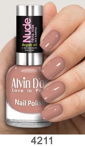 Alvin D`or Лак для ногтей Гель NUDE  тон 4211