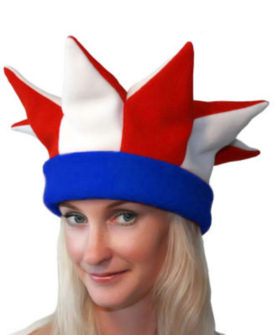 Карнавальная шапка Шута красная
