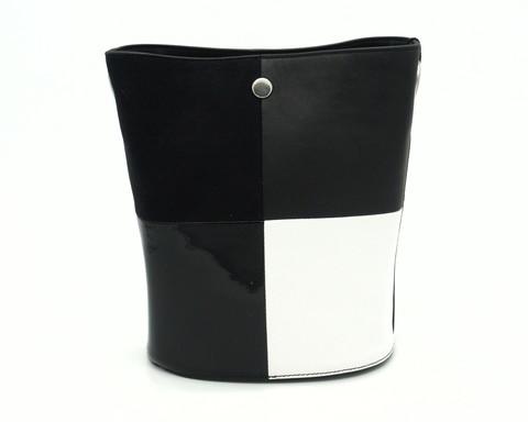 Комбинированная кожаная сумка с комбинированной ручкой