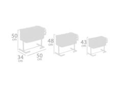 DeCuevas Кроватка для куклы серии Скай, с опускающимся бортиком, 50см (51235)