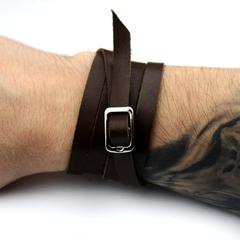 Кожаный браслет TRONIN AM-106BR+