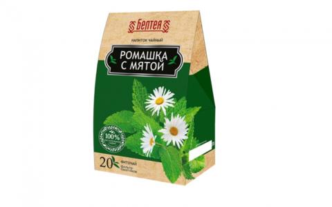 БЕЛТЕЯ  Успокаивающий напиток чайный 20пак Фиточай ромашка с мятой болеутоляющий