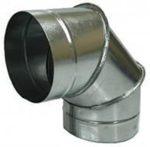 Отвод (угол) 90 градусов D 125 оцинкованная сталь