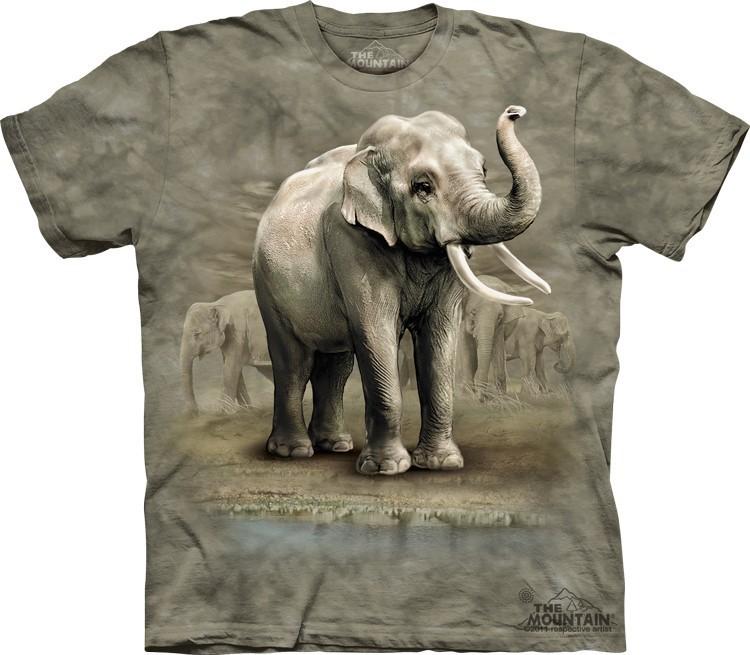 Футболка Mountain с изображением индийских слонов - Asian Elephants