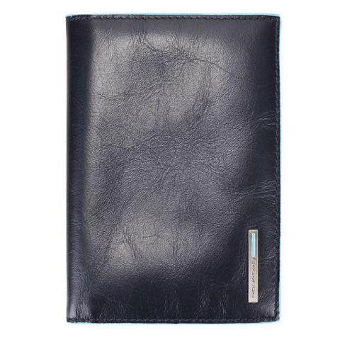 Обложка для паспорта Piquadro Blue Square (AS300B2/BLU2) синий кожа