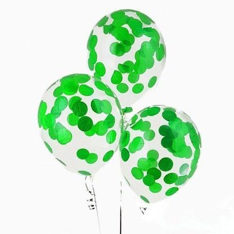 Шары с конфетти Воздушный шар с зеленым конфетти зелен_конф.jpg