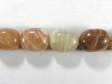 Бусина из солнечного камня/лунного камня, фигурная, 16x12 мм (овал, галтовка)