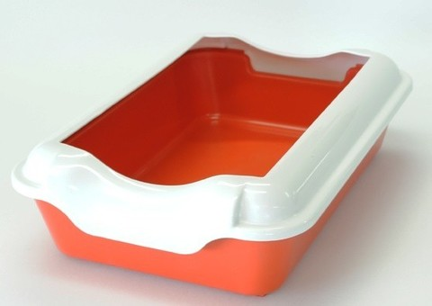 HOMECAT туалет для кошек с бортиком красный 37х27х115 см