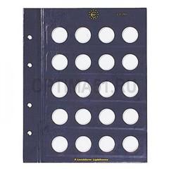 дополнительный лист на 20 ячеек в альбом VISTA для монет номиналом 2-Euro