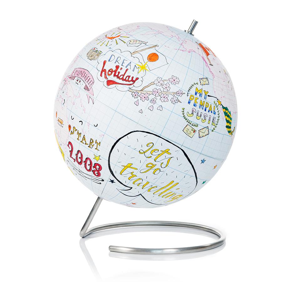 Глобус для разукрашивания Journal большой Suck UK SK GLOBEGRID1   Купить в Москве, СПб и с доставкой по всей России   Интернет магазин www.Kitchen-Devices.ru