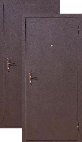 Дверь входная СтройГост Стройгост 5-1 внутреннее открывание, 1 замок, 1 мм  металл, (медь+медь)