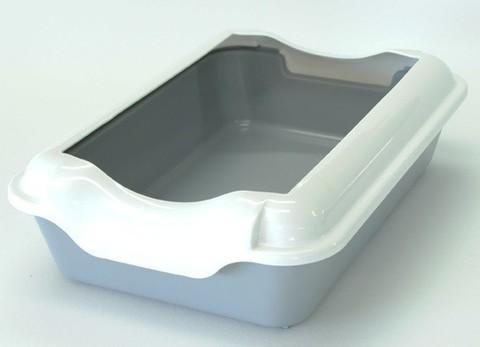 HOMECAT туалет для кошек с бортиком серый 37х27х115 см