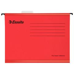 Подвесная папка Esselte Plus Foolscap А4+ до 250 листов красная (25 штук в упаковке)
