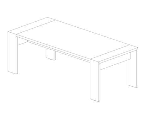 Стол прямой 2200 мм (Lava/Terra)