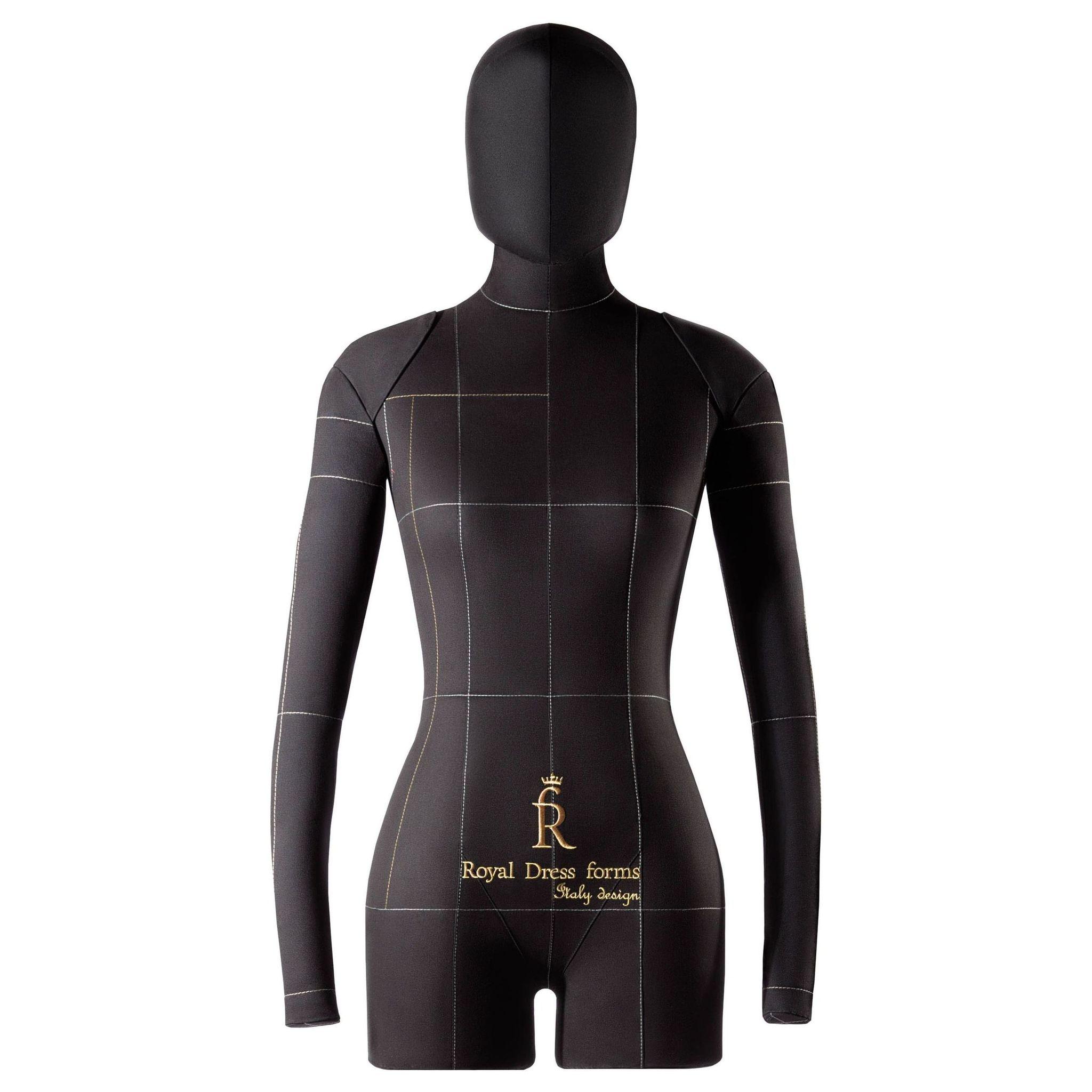 Комплект Lux: мягкий манекен Monica черный 40, Ручки, Голова, Фиксатор, Сумка
