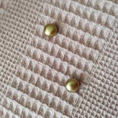 Элегантный магнит для платка, шарфа, палантина (магнитная брошь) перламутр золотой
