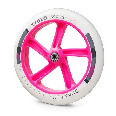 колесо 230 мм для Trolo Lux Quantum бело-розовое