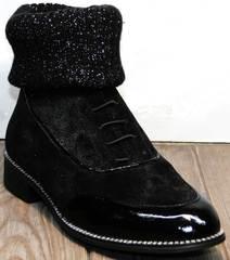 Английские ботинки женские Kluchini 5161 k255 Black