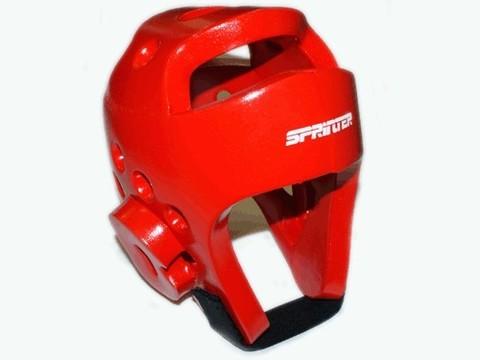 Шлем для тхеквондо. Размер L. Цвет красный. :(ZTT-002К-L):