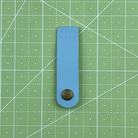 Ремешок для кошелька на кнопке 7,5 см. (Светло-голубой)