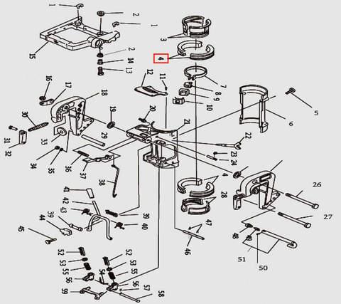 Втулка струбцины разрезная для лодочного мотора T9.8 Sea-PRO (11-4)