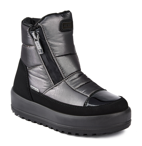 Jog Dog зимние ботинки Bomber Turbo (антрацит флеш) для девочки