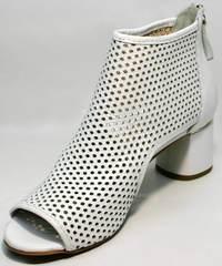 Короткие ботильоны босоножки женские стильные Magnolya 3503 56-3 SummerWhite