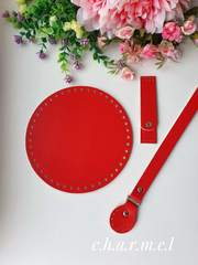 Ручка для сумок пришивная  50 см Красный