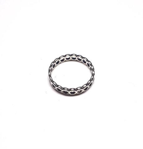 Modular ring, sterling silver