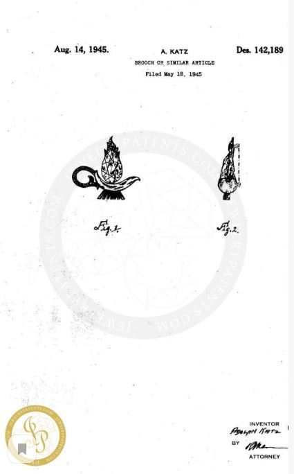 Серебряная брошь с позолотой «Лампа Алладина» от Coro     Rare Coro Aladdin's Lamp Sterling Pegasus Brooch