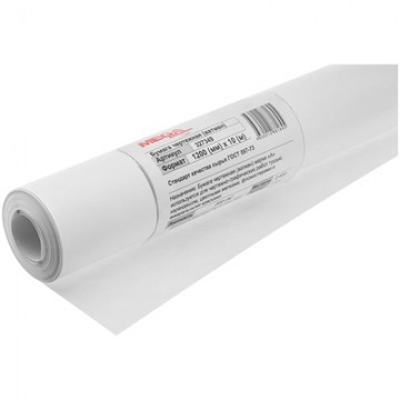 Ватман бумага чертежная ProMEGA Engineer (1 рулон, размер 1200x10000 мм, плотность 200 г/кв.м, белизна 146%)