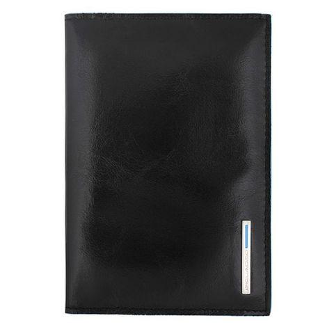 Обложка для паспорта Piquadro Blue Square (AS300B2/N) черный кожа