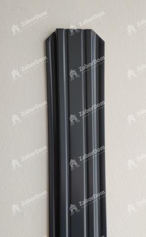 Евроштакетник металлический 85 мм RAL 7024 П - образный 0.5 мм