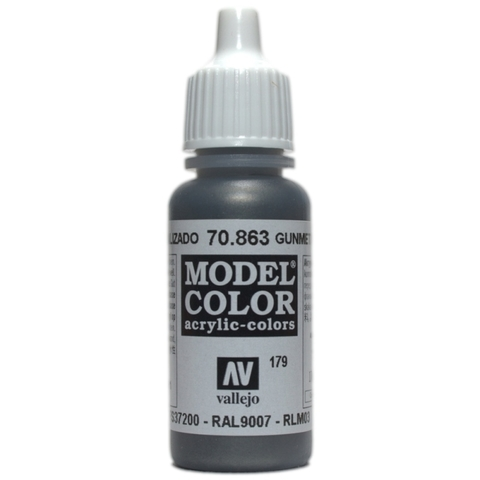 Model Color Gunmetal Grey 17 ml.