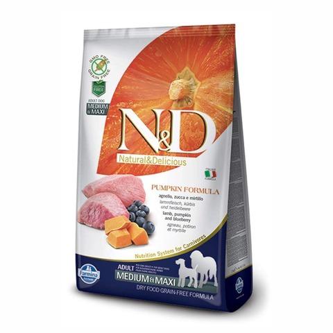 Farmina N&D Dog сухой корм для собак средних/крупных пород (ягненок с черникой и тыквой) 2,5 кг
