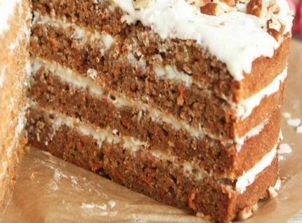 Морковный торт безглютеновый