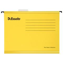 Подвесная папка Esselte Standart А4 до 250 листов желтая (25 штук в упаковке)