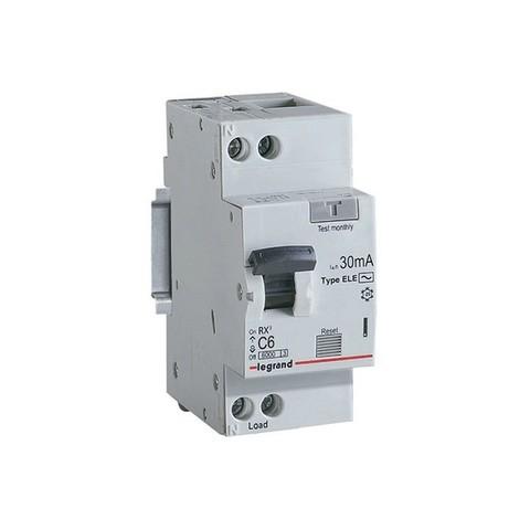 Дифавтомат - Автоматический выключатель дифференциального тока (АВДТ) RX - 2P - 6 А, 30 мА, Тип АС. Legrand (Легранд). 419396