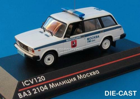 VAZ-2104 Lada Moscow Police 1:43 ICV120