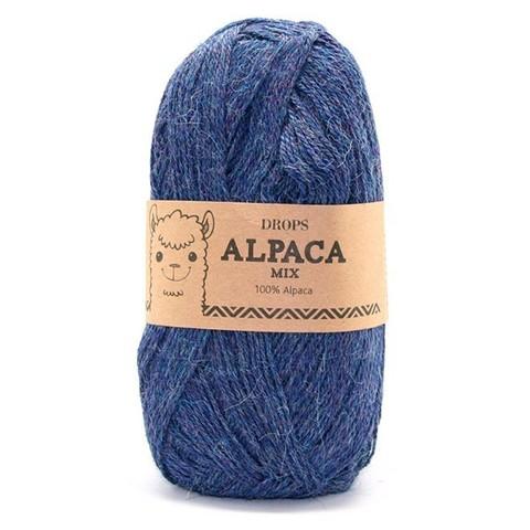 Пряжа Drops Alpaca 6360 синий меланж