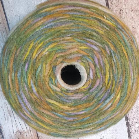 Меринос с акрилом (50%) NEW MILL / ULTRA 240 желто-зеленый мультиколор